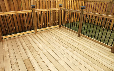 Lovely new decking installed in Bury St Edmunds property